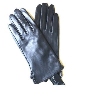 New H&M leather gloves